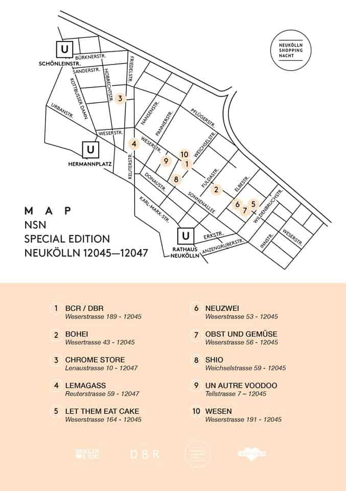 The NSN Weserstrasse Edition map