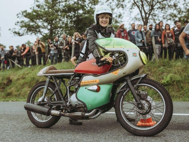 Petrolettes Irene Kotnik takes her motorbike out for a spin