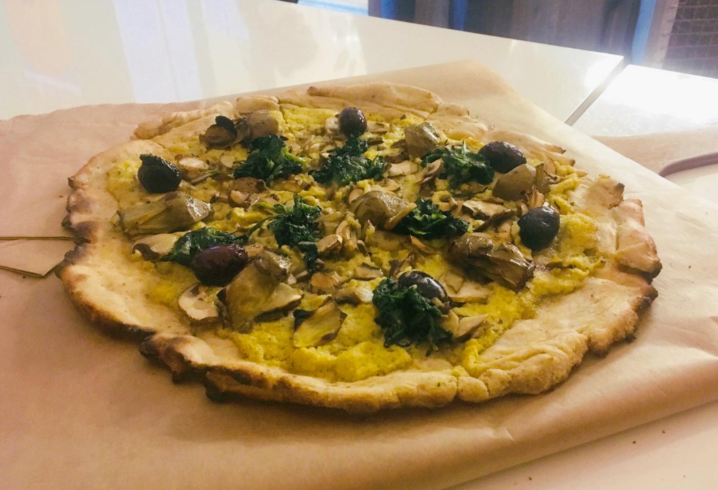 Pizzare-Vegan-Lover-Artichoke-pizza